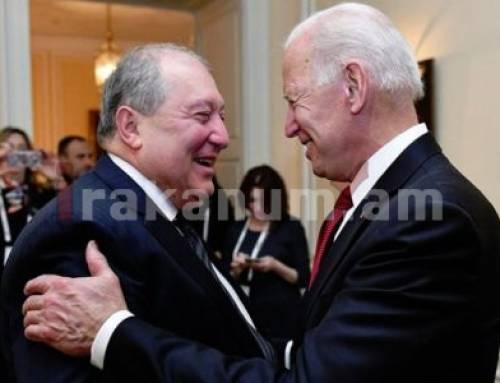 Նախագահ Արմեն Սարգսյանը հանդիպել է ԱՄՆ նախկին փոխնախագահ Ջո Բայդենի հետ