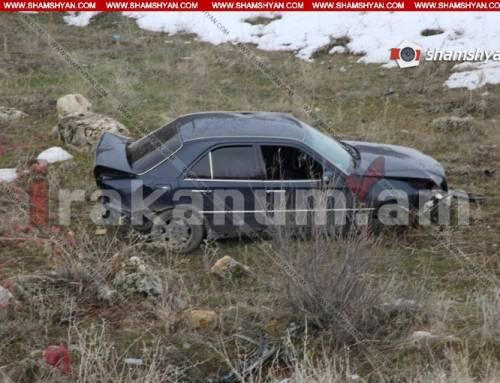 Արարատի մարզում Mercedes-ը դուրս է եկել հանդիպակաց գոտի, հայտնվել ձորում. կա վիրավոր