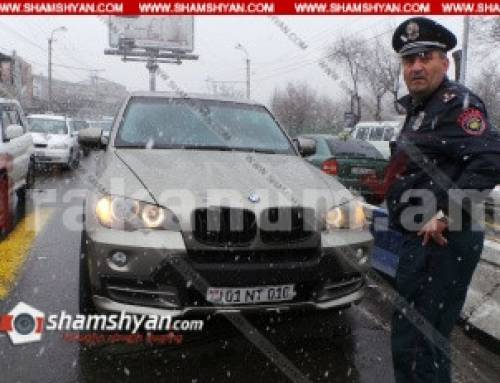 Երևանում BMW X5-ի 31-ամյա վարորդը վրաերթի է ենթարկել հետիոտնին. վերջինը տեղափոխվել է հիվանդանոց