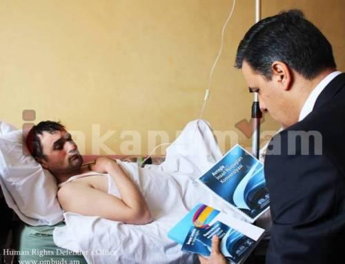 Արման Թաթոյանն այցելել է պետական սահմանն ապօրինի հատած Ադրբեջանի քաղաքացուն