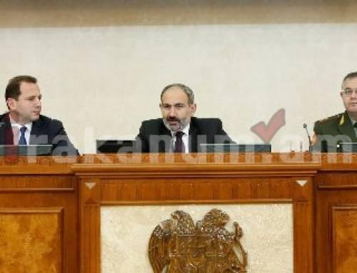 Փաշինյանը հանդիպել է ԶՈՒ ղեկավար կազմի հետ, խոսել Ղարաբաղյան կարգավորման բանակցային գործընթացի մասին
