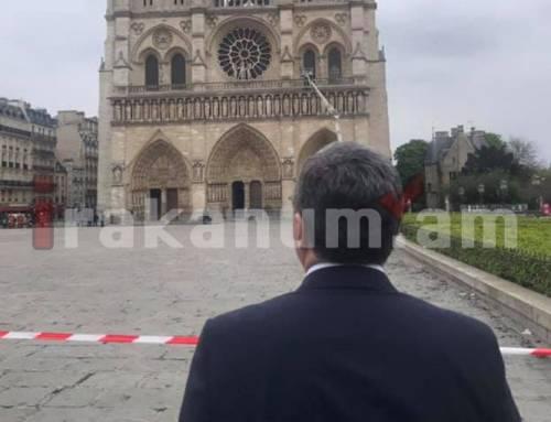 Աշխատանքային այցի ընթացքում Զոհրաբ Մնացականյանն այցելել է Փարիզի Աստվածամոր տաճար (լուսանկարներ)
