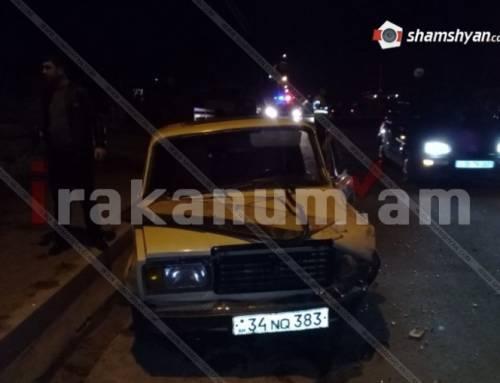 Վանաձորում բախվել են ВАЗ 21-07-ը և Porche Cayenne-ը. կա վիրավոր