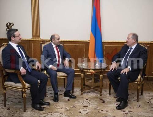 Նախագահ Սարգսյանը հանդիպել է ՀՀ ԱԺ «Լուսավոր Հայաստան» խմբակցության ղեկավարների հետ