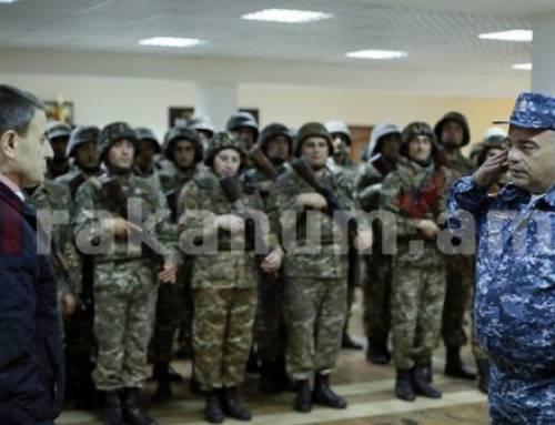 Վալերիյ Օսիպյանը կրկին սահմանապահ ոստիկանների է ճանապարհել դիրքեր