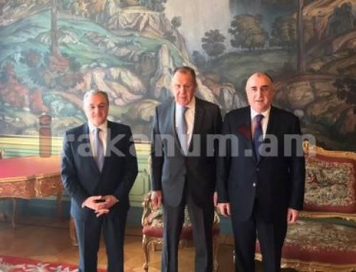 Մոսկվայում մեկնարկել է Հայաստանի, Ադրբեջանի և Ռուսաստանի արտգործնախարարների հանդիպումը