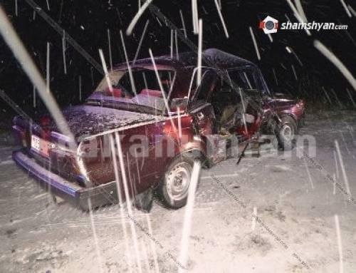 Ողբերգական վթար Գեղարքունիքում. բախվել են Opel-ն ու «ՎԱԶ 2107»-ը. կա 1 զոհ, 2 վիրավոր