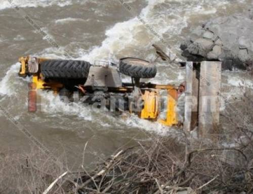 Տրակտորը բախվել է Opel-ին, ընկել Դեբետ գետը․ վարորդը հոսպիտալացվել է