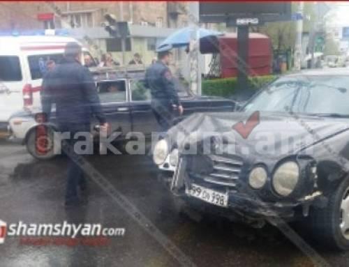 Երեք մեքենա բախվել են Կոմիտաս-Փափազյան խաչմերուկում․ կա վիրավոր