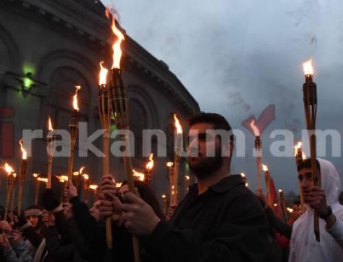 Հայոց ցեղասպանության տարելիցին նվիրված ջահերով երթ` Երևանում (լուսանկարներ)