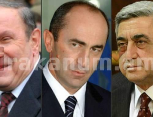 Նազարբաեւը նամակ է ուղարկել Հայաստանի 3 նախագահներին