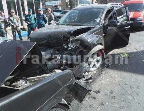 Կիևյան կամրջի սկզբնամասում ВАЗ 21099-ը դուրս է եկել հանդիպակաց գոտի և բախվել Mitsubishi-ին. կան վիրավորներ