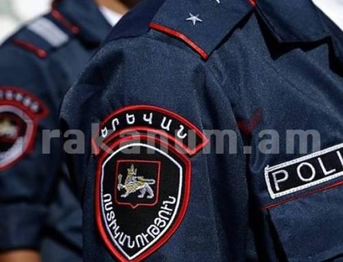 Ոստիկանները բերման են ենթարկել ավտոմեքենայի պատուհանից ինքնաշեն սարքով կրակած անձին