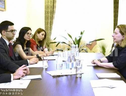 Արդարադատության նախարարն ընդունել է Եվրոպայի խորհրդի երևանյան գրասենյակի ղեկավարին
