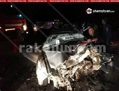Ողբերգական ավտովթար Լոռու մարզում. բախվել են Mercedes-ն ու Volkswagen-ը. կա 1 զոհ, 3 վիրավոր