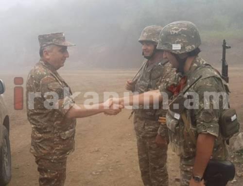 Արցախի ՊԲ հրամանատարն այցելել է մի շարք զորամասեր և առաջնագիծ
