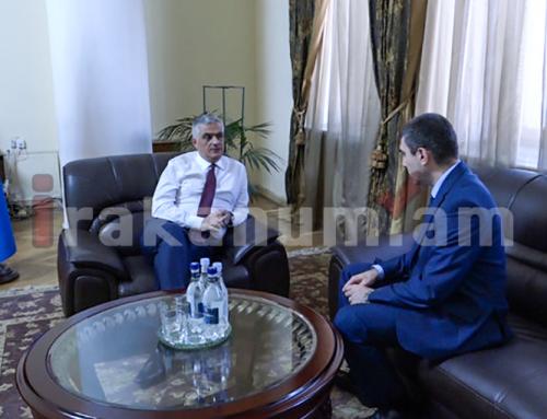Փոխվարչապետ Մհեր Գրիգորյանը հանդիպում է ունեցել Արցախի պետնախարար Գրիգորի Մարտիրոսյանի հետ