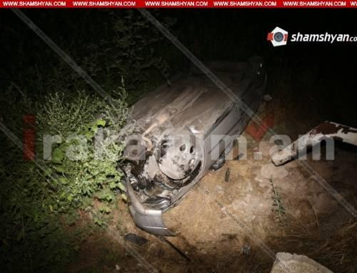 Վարորդը խմած վիճակում Opel-ով տապալել է էլեկտրասյունն ու հայտնվել Հրազդան գետում