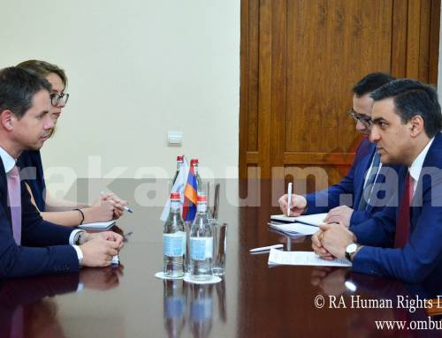 Մարդու իրավունքների պաշտպանն ընդունել է Հայաստանում Ֆրանսիայի արտակարգ և լիազոր դեսպանին