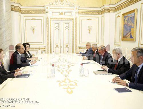 Վարչապետն ընդունել է ԱՄՀ Միջին Արևելքի և Կենտրոնական Ասիայի դեպարտամենտի տնօրենին