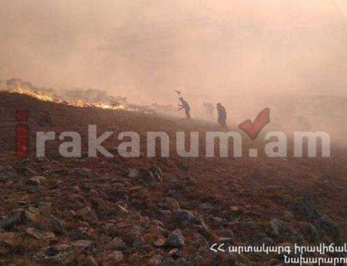 Բասեն գյուղում մոտ 500 հա խոտածածկույթ է այրվել. ԱԻՆ