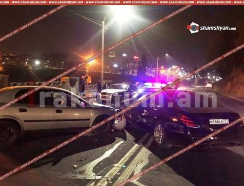 Խոշոր ավտովթար Երևանում. բախվել են 2 Mercedes-ները եւ Opel-ը. վթարի մասնակիցներից է «Նեմեց Ռուբոյի» ազգականը, ով փորձել է դեպքի վայրում «շոու սարքել»