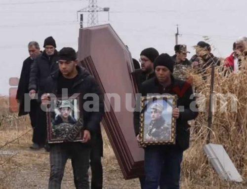 Արցախում մահացած Արթուր Աջամյանին այսօր հողին հանձնեցին