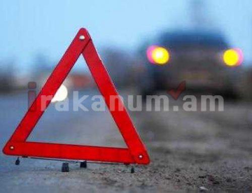 Արշակունյաց պողոտայի եւ Շիրակի փողոցի խաչմերուկում BMW-ն բախվել է արգելապատնեշին