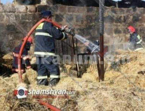 Խոշոր հրդեհ Ազատան գյուղում. այրվել է անասնագոմը, այդ թվում 250 հակ անասնակեր