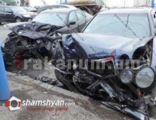Խոշոր վթար Նոր Նորքում. ճակատ-ճակատի բախվել են BMW-ն ու Mercedes-ը