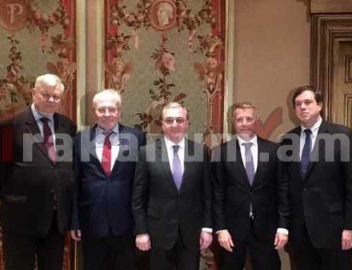 Զոհրաբ Մնացականյանը հանդիպում է ունեցել ԵԱՀԿ Մինսկի խմբի համանախագահների հետ