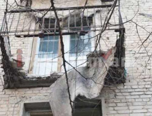Երեւանյան շենքի պատշգամբի պատը փլուզվել է. բեկորներն ընկել են կանանց վրա