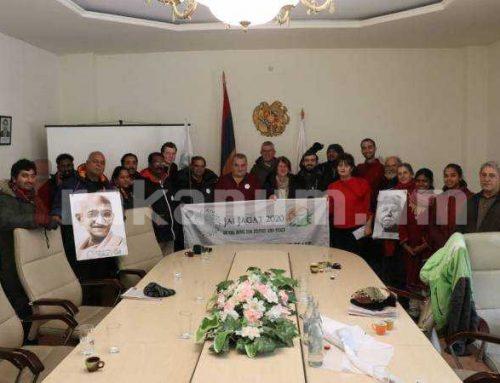 Հայաստանում մեկնարկել է Մահաթմա Գանդիի 150-ամյակին նվիրված «Ջայ Ջագաթ 2020» քայլարշավը