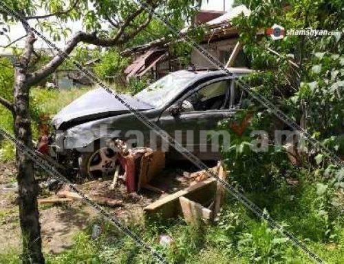 Կասկադյորական վթար Արմավիրի մարզում. Mercedes-ը մխրճվել է տան մեջ՝ փլուզելով պատերն ու առաստաղը. կա վիրավոր
