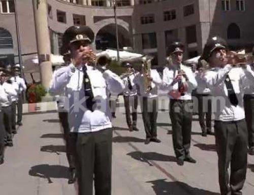 ՀՀ ԶՈՒ ԳՇ զինվորական նվագախմբի երաժշտական շնորհավորանքը