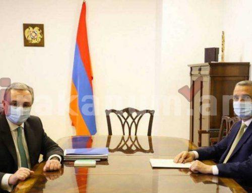 Զոհրաբ Մնացականյանը հանդիպել է Արցախի ԱԳ նախարար Մասիս Մայիլյանի հետ