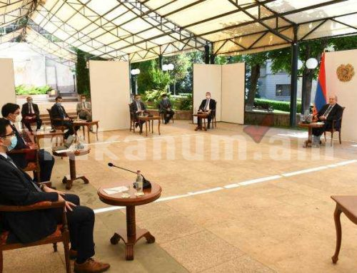 ՀՀ նախագահը հանդիպել է սահմանադրական բարեփոխումների մասնագիտական հանձնաժողովի անդամների խմբի հետ