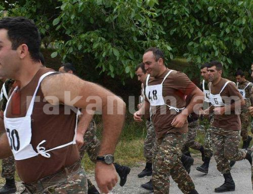 Զինծառայողները ֆիզիկական պատրաստության ստուգարքներ են հանձնել