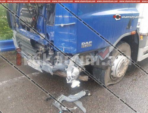 Ավտովթար Տավուշի մարզում. Դիլիջանի ոլորաններում բախվել են DAF բեռնատարն ու Opel Astra-ն. կա վիրավոր
