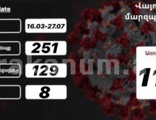 Մարտի 16-ից սկսած՝ Վայոց ձորում գրանցվել է կորոնավիրուսով վարակման 251 դեպք. մարզպետարան