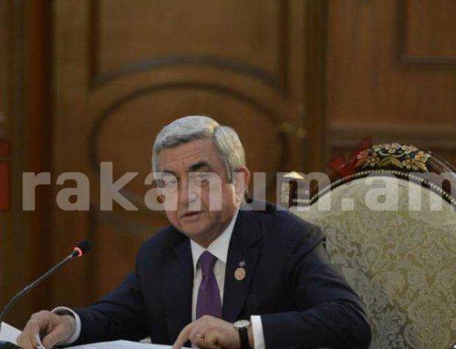 Տեղի է ունեցել ՀՀԿ Գործադիր մարմնի հերթական նիստը. այն վարել է Սերժ Սարգսյանը