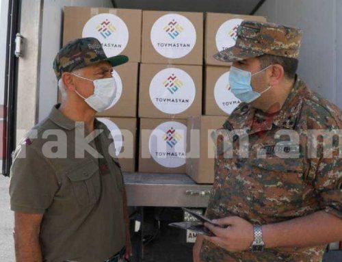 ՀՀ զինված ուժերին նվիրաբերվել են պաշտպանիչ դիմակներ