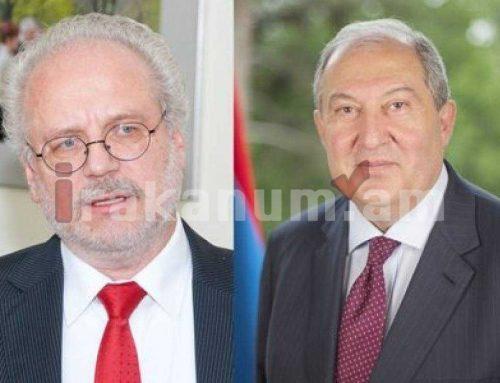 Արմեն Սարգսյանը հեռախոսազրույց է ունեցել Լատվիայի նախագահի հետ