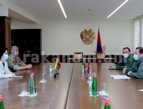 Դավիթ Տոնոյանն ընդունել է ՀՀ-ում Լիտվայի դեսպանին եւ Լիտվայից ժամանած ռազմական մասնագետներին