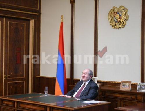 Արմեն Սարգսյանը հանդիպում է ունեցել ՀՀ ԿԲ նախագահ Մարտին Գալստյանի հետ
