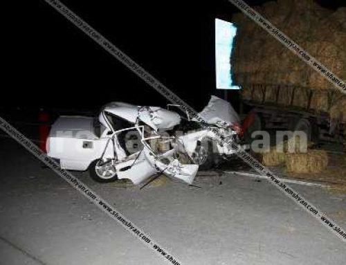 Արարատի մարզում 40-ամյա վարորդը VAZ 2107-ով բախվել է խոտով բարձված տրակտորի կցորդիչին