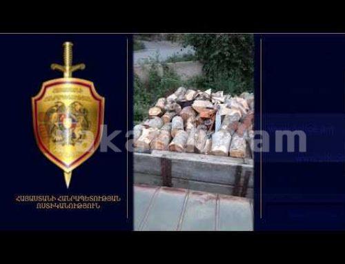 Իջեւանի ոստիկանները 8 խմ ապօրինի փայտանյութով բեռնատար են հայտնաբերել. կտրել է «Սեւքարի» տարածքից