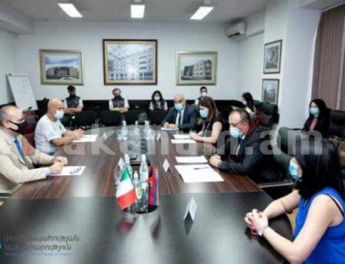 Արսեն Թորոսյանն ընդունել է Իտալիայից ժամանած բժիշկների թիմի ղեկավարին
