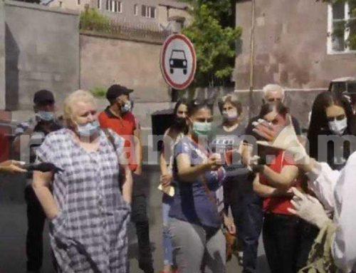 ՌԴ քաղաքացիների բողոքի ակցիան՝ ՀՀ-ում ՌԴ դեսպանատան առջև