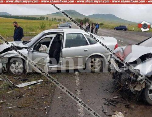 Խոշոր ավտովթար Լոռու մարզում. բախվել են Opel Zafira-ն ու Opel Vectra-ն. 10 հոգի տեղափոխվել է հիվանդանոց